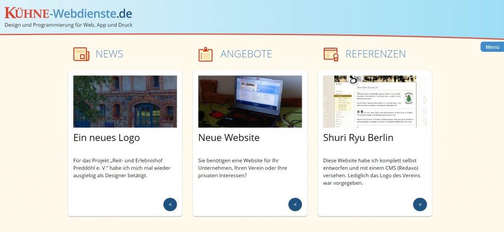 Screenshot Sapper Version Kühne-Webdienste