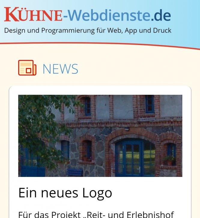 Screenshot Sapper-Version Kühne-Webdienste für Smartphone
